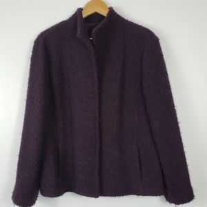 EILEEN FISHER Boucle Knit Jacket Large